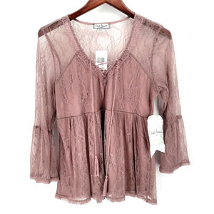 NWT Crave fame by almost famous mauve top Blouse